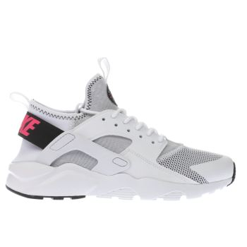 Nike White & Black Air Huarache Ultra Girls Youth
