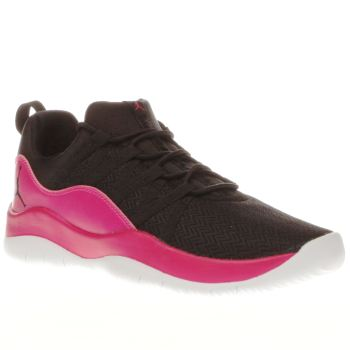 NIKE JORDAN  BLACK & PINK DECA FLY GIRLS YOUTH TRAINERS