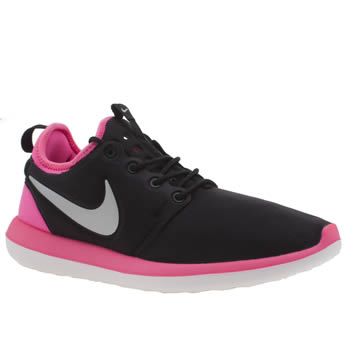 Nike Black & pink Roshe Two Girls Youth