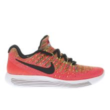 Nike Pink & Black Lunarepic Low Flyknit Girls Youth