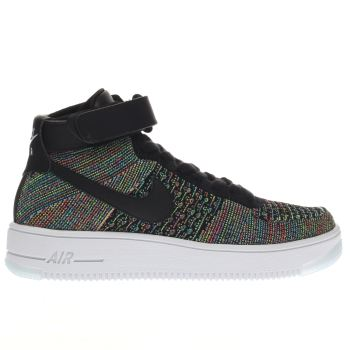 Nike Pink & Black Air Force 1 Ultra Mid Flyknit Girls Youth