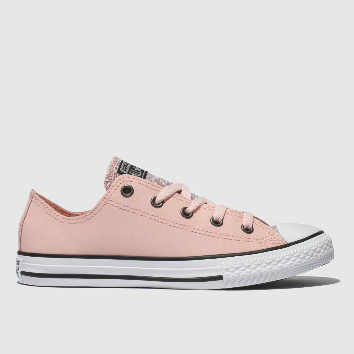 Converse Pale Pink All Star Ox Glitter Trainers Youth