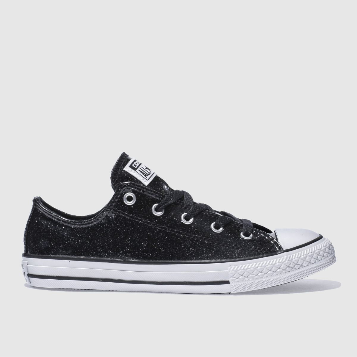converse black all star ox glitter Girls Youth Trainers