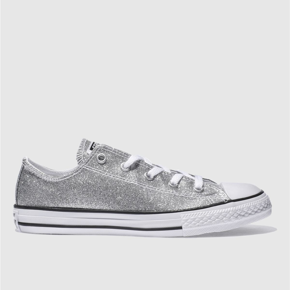converse silver all star ox glitter Girls Youth Trainers