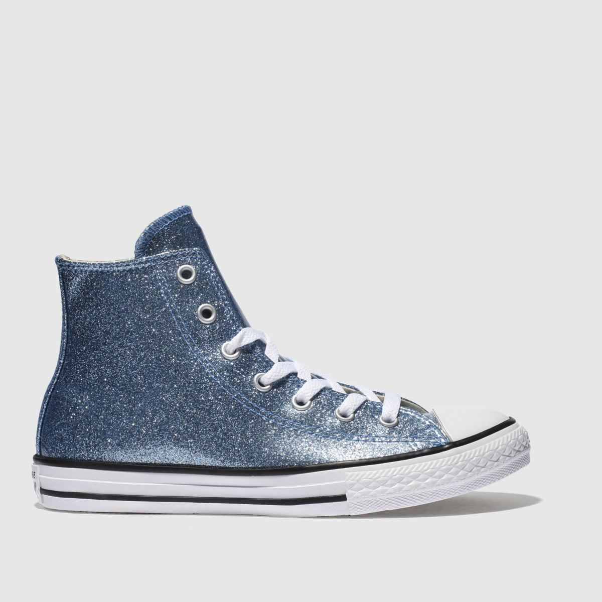Converse Blue All Star Hi Glitter Trainers Youth