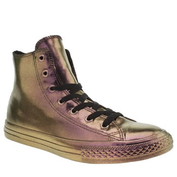 Girls Converse Purple All Star Rubber Color Hi Girls Youth