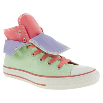 Converse Light Green All Star Two Fold Hi Girls Youth