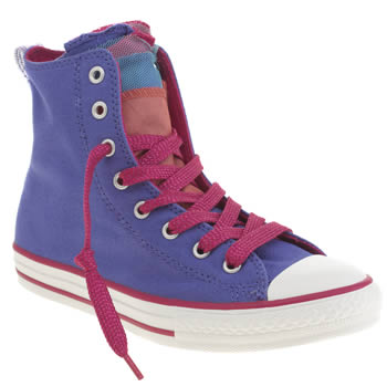 Girls Converse Purple All Star Shine Party Hi Girls Youth