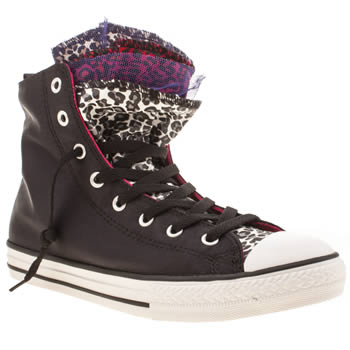 Converse Black Party Hi Girls Youth
