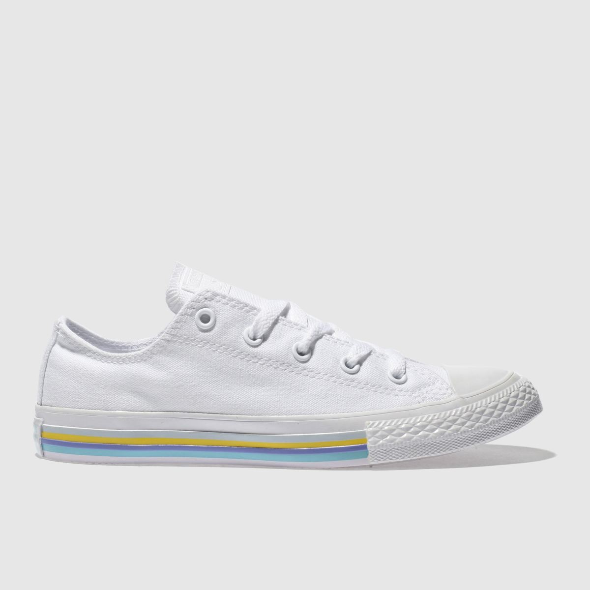 Converse White All Star Lo Stripe Girls Youth Youth