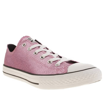 Girls Converse Pink All Star Glitter Girls Youth