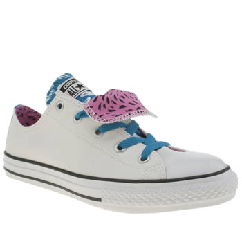 Converse White & Blue All Star Lo Girls Youth