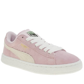 Girls Puma Pale Pink Suede Classic Girls Youth