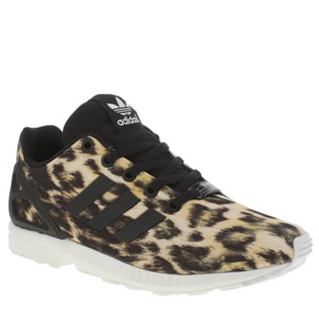 Adidas Black & Brown Zx Flux Girls Youth