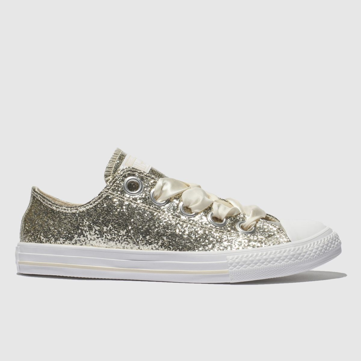 Converse Gold All Star Big Eyelets Lo Trainers Youth