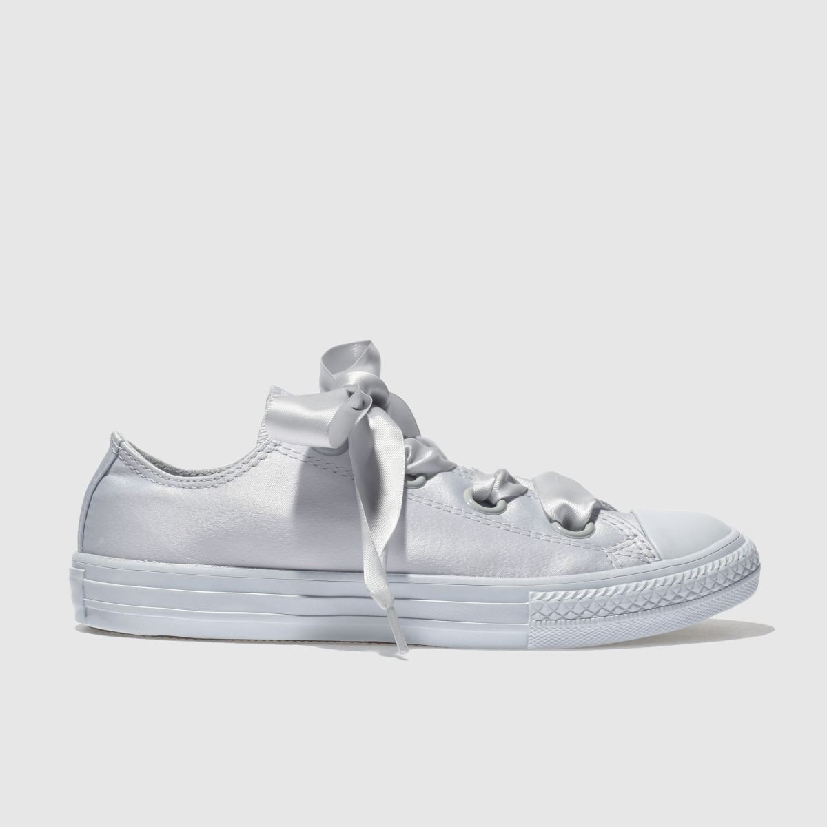Converse Light Grey Cons Ctas Big Eyelets Lo Yth Girls Youth Trainers