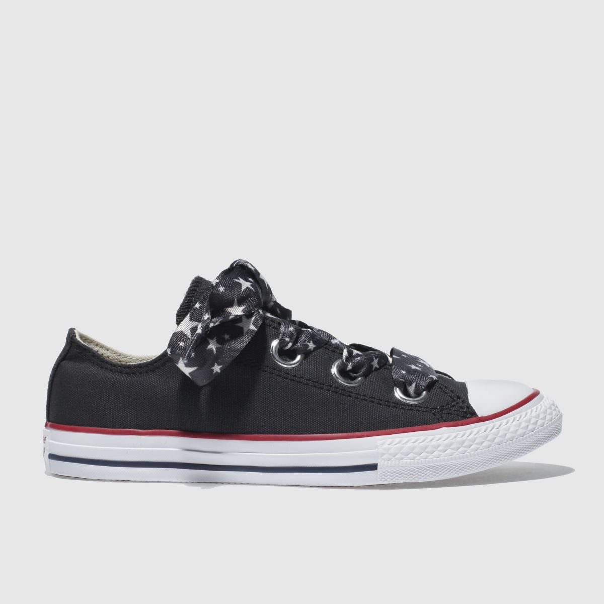 Converse Black All Star Big Eyelets Lo Girls Youth Youth