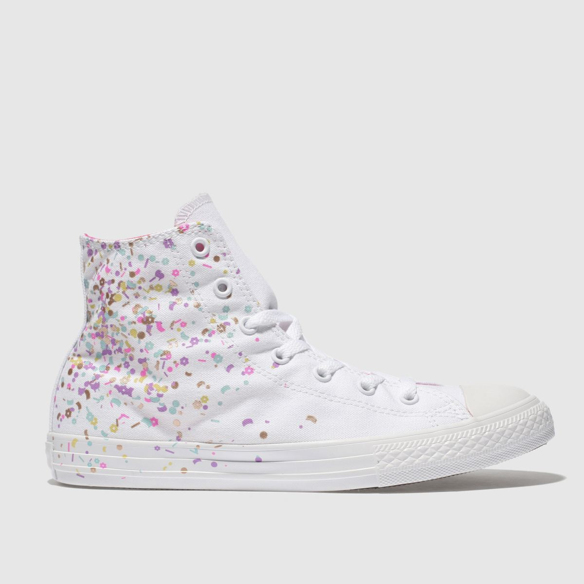 Converse White & Pink All Star Hi Girls Youth Youth