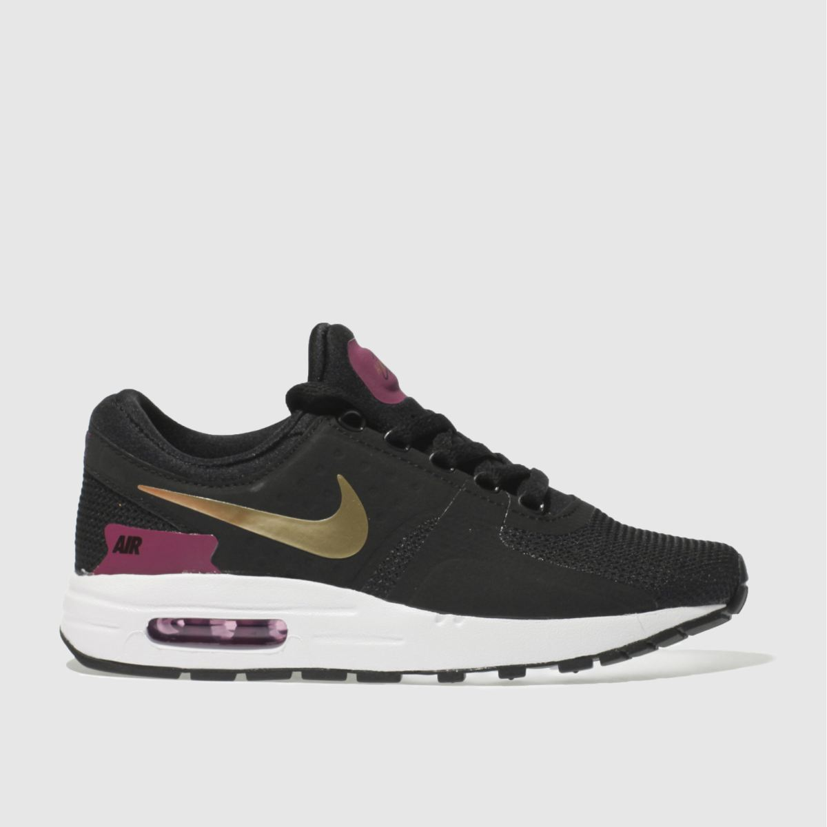 nike black & gold air max zero essential Girls Youth Trainers