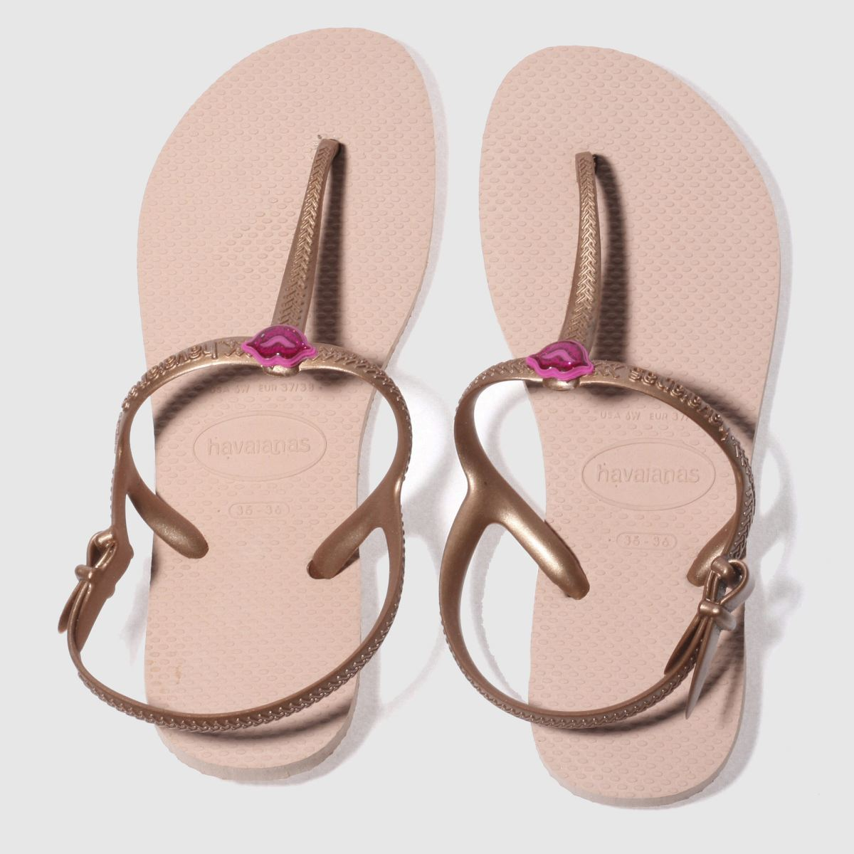 Havaianas Pale Pink Freedom Sl Girls Youth Sandals
