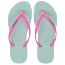Havaianas Turquoise Slim Logo Girls Youth