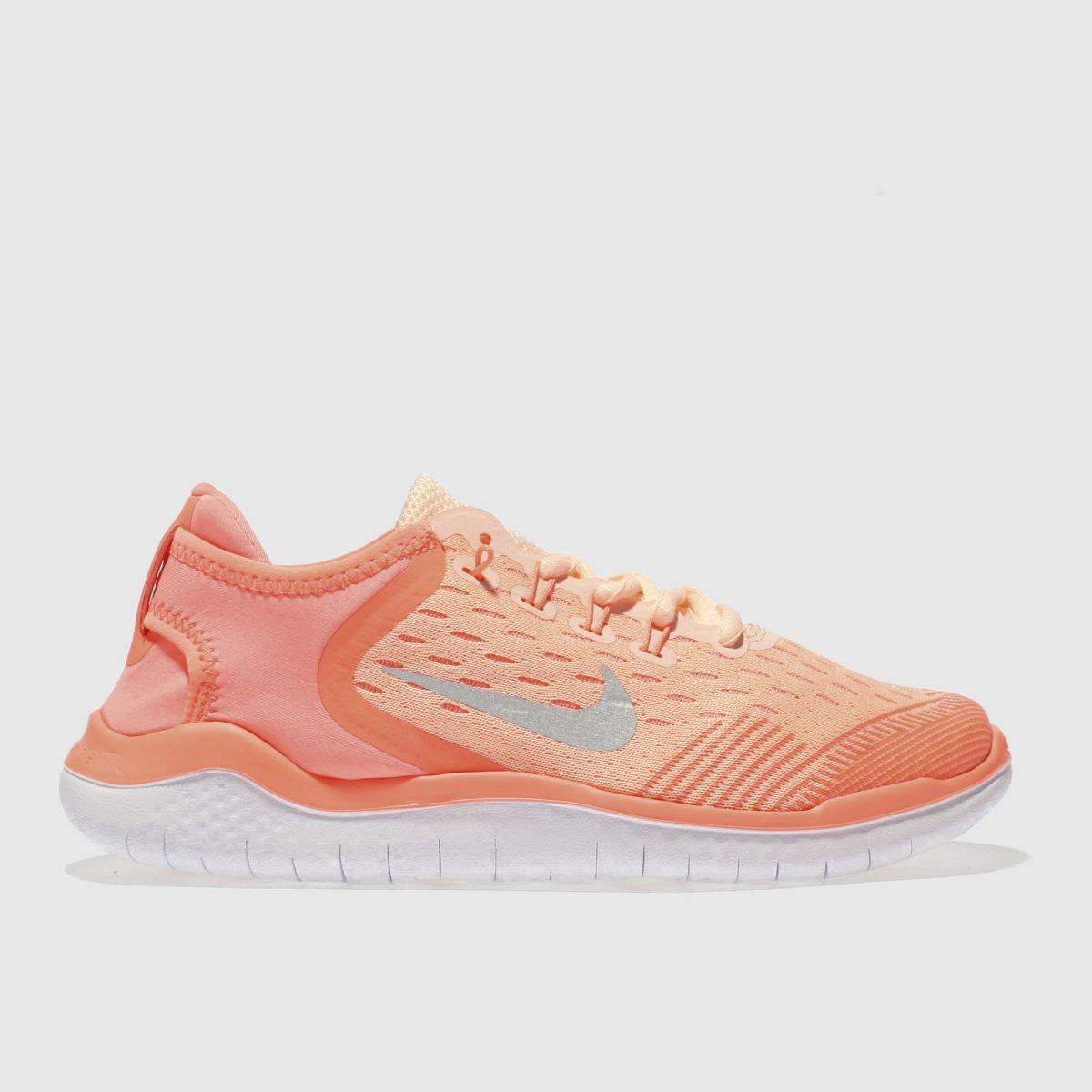 Nike Neon Peach Free Rn 2018 Girls Youth Youth