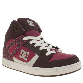 Dc Shoes Burgundy Rebound Se Girls Youth