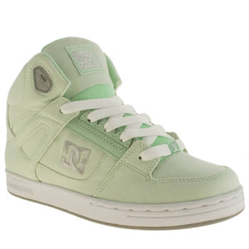 Dc Shoes Light Green Rebound Tx Se Girls Youth