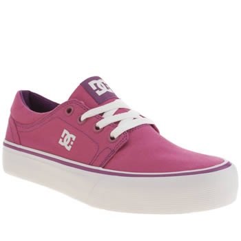 Dc Shoes Pink Trase Tx Girls Youth