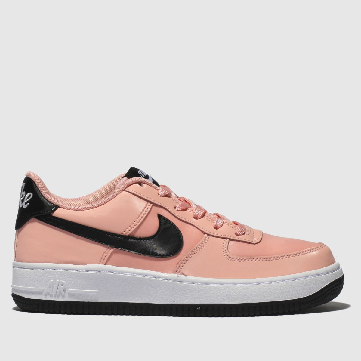 Nike Pink & Black Air Force 1 Vday Trainers Youth