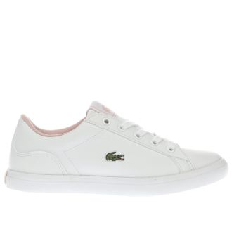 Lacoste White Lerond Girls Youth