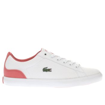 Girls Lacoste White & Pink Lerond Girls Youth