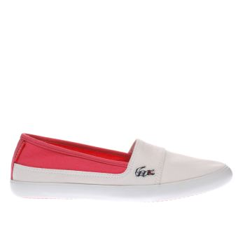 Girls Lacoste White & Pink Marice Girls Youth