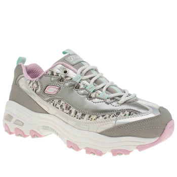 Skechers Silver D-lites Show Time Girls Youth