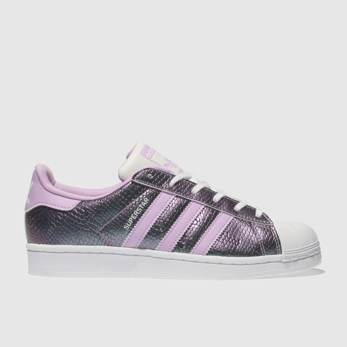 Adidas Lilac Superstar Trainers Youth