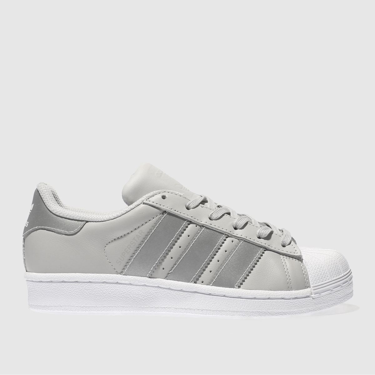 adidas light grey superstar Girls Youth Trainers