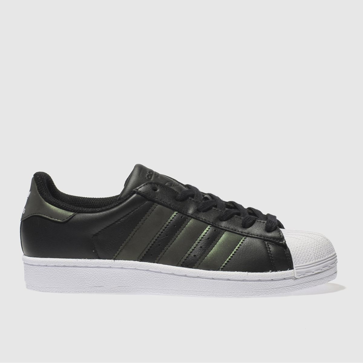 adidas black & white superstar Girls Youth Trainers