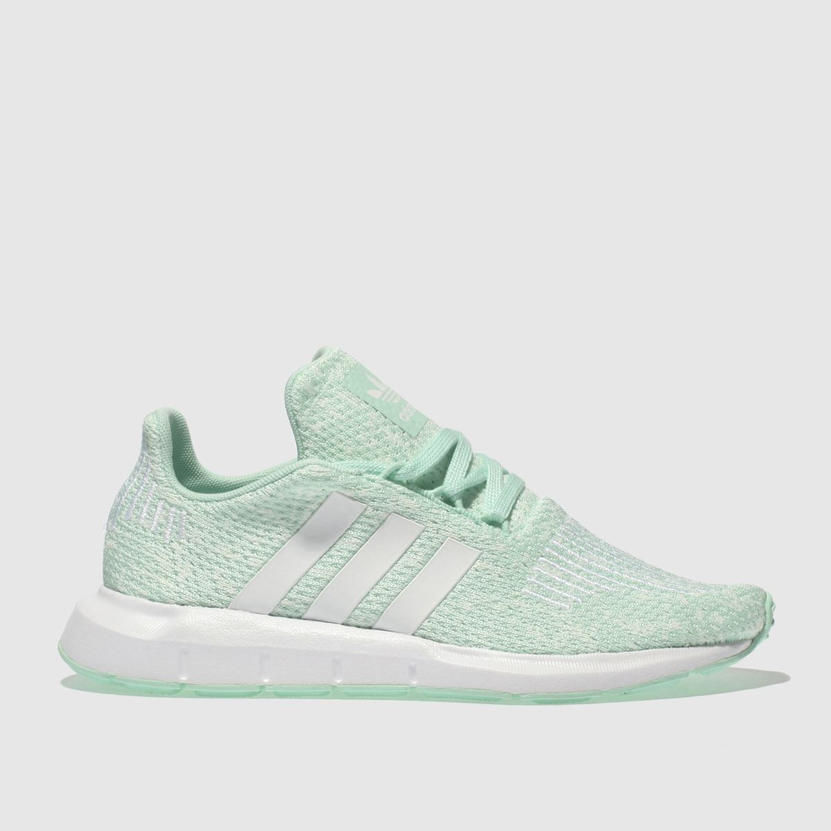 Adidas Light Green Swift Run Trainers Youth