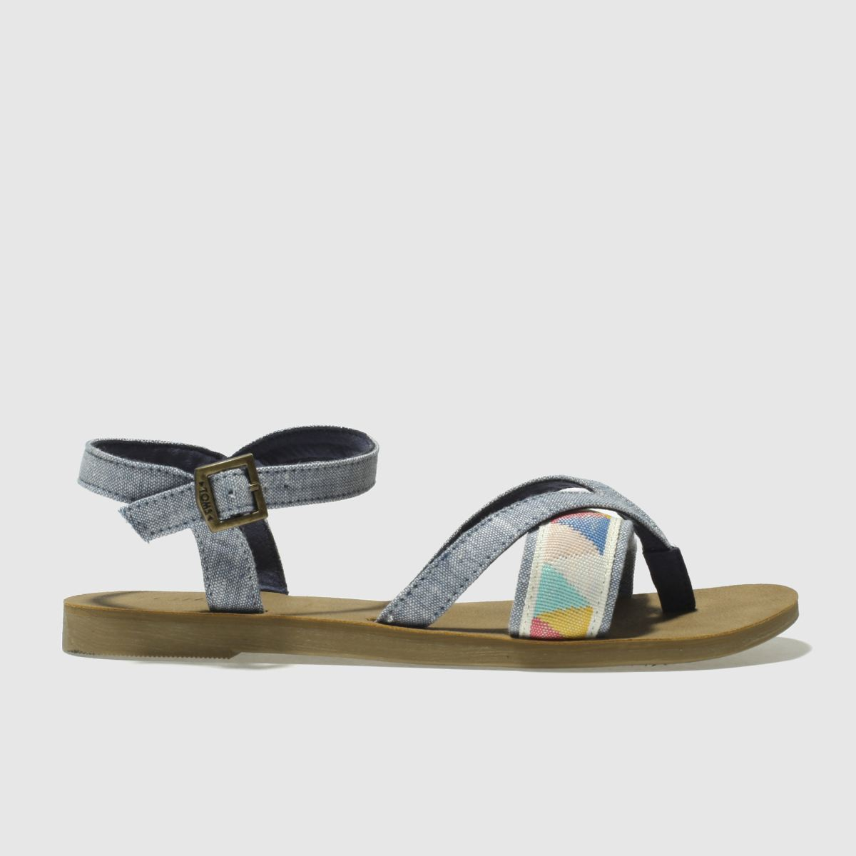 Toms Blue Lexie Girls Youth Sandals