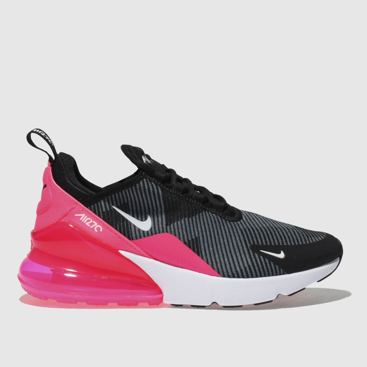 Nike Black & Grey Air Max 270 Knit Girls Youth Youth