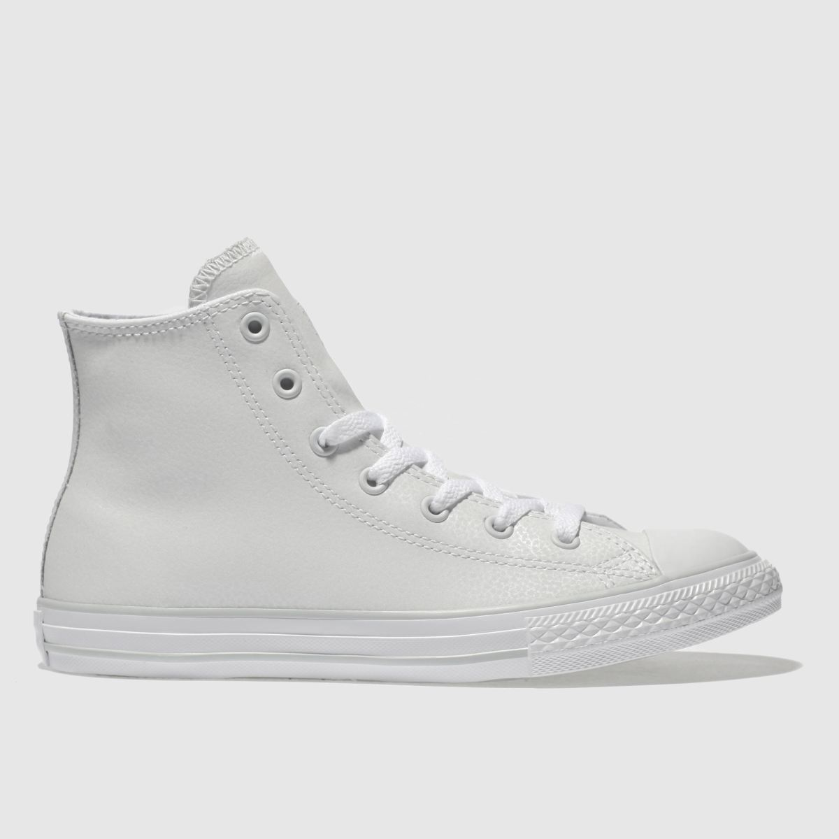 Converse White All Star Hi Leather Girls Youth Youth