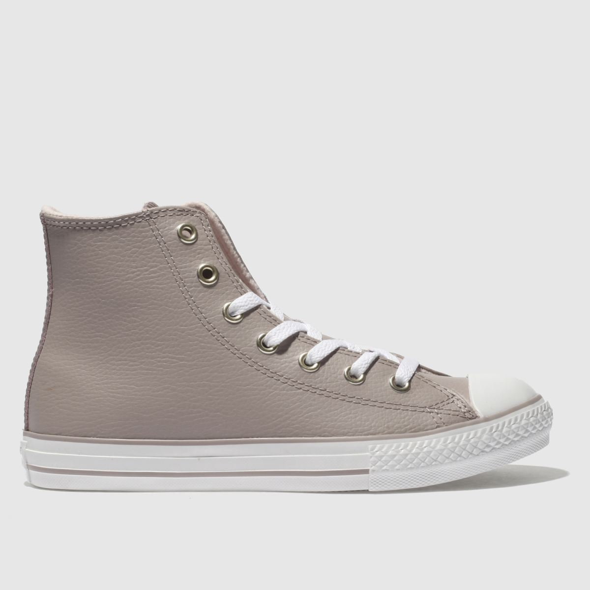 Converse Pale Pink All Star Hi Leather Trainers Youth