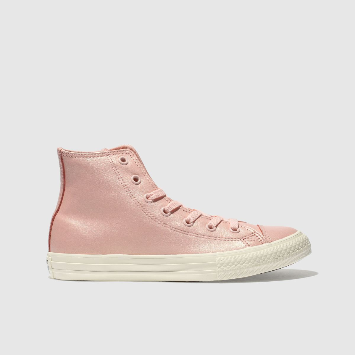 Converse Pink All Star Hi Leather Trainers Youth