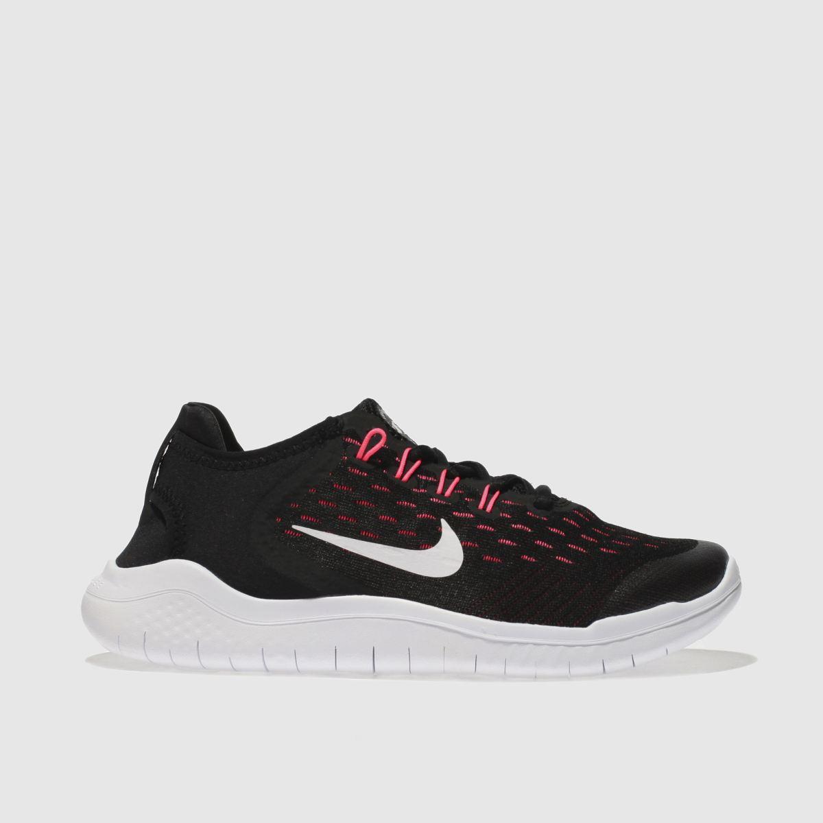 Nike Black & Pink Free Rn 2018 Girls Youth Trainers