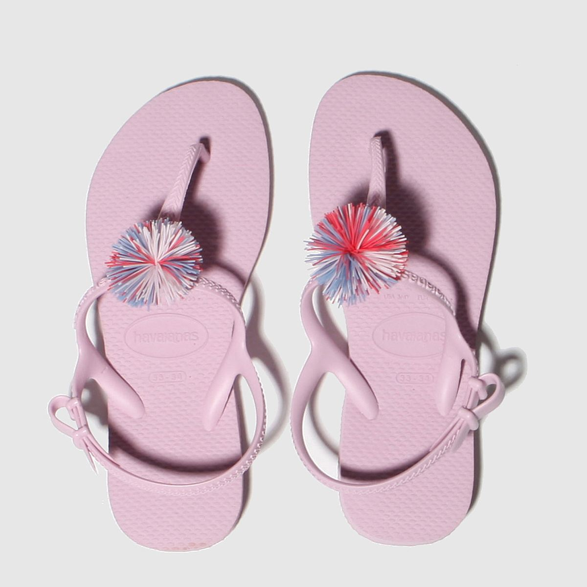Havaianas Pale Pink Freedom Pompom Trainers Youth