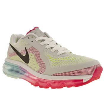 kids nike white & pink air max 2014 trainers