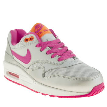 Nike White & Pink Air Max 1 Girls Youth