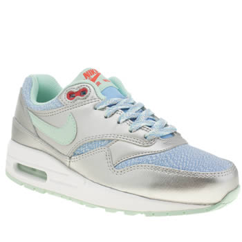 Nike Silver Air Max 1 Girls Youth