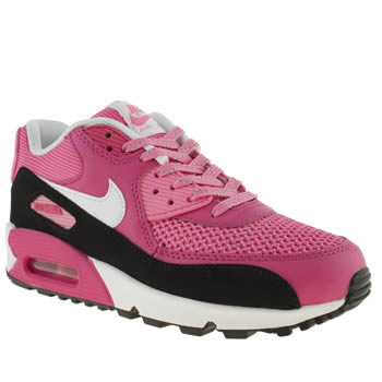 kids nike pink air max 90 trainers