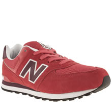 Youth Red New Balance 574